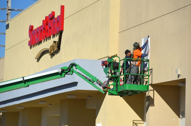 A new Smart & Final Extra is nearing completion in Torrance on Tuesday, December 12, 2017. The new grocery store is at the site of a close Raphs store at the corner of Artesia and Crenshaw blvds.(Photo by Scott Varley, Daily Breeze)
