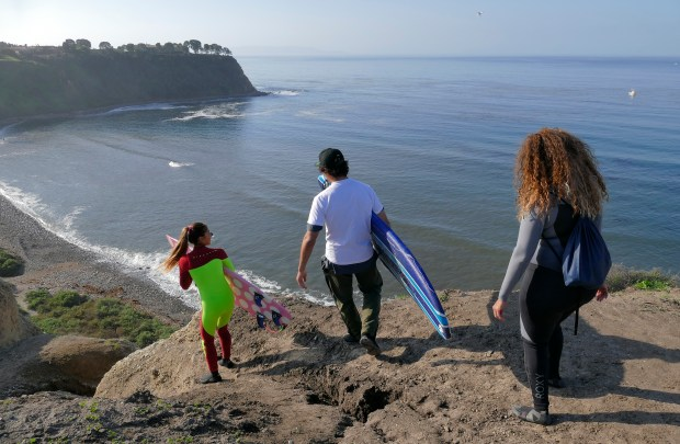 Surfers returned to the Lunada Bay surf spot for a day of celebration of the end of localism and bullying tactics by the so-called Bay Boys. Everyone was welcome to enjoys the waves and good vibes along the bluffs above the bay. Photos by Brad Graverson/SCNG/The Daily Breeze/01-16-17