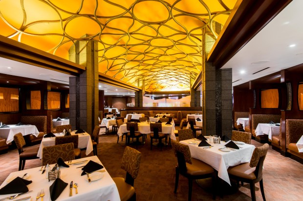 The Steakhouse at Spa Resort Casino is one of many casino restaurants offering Christmas dining specials. (Courtesy of Spa Resort Casino)