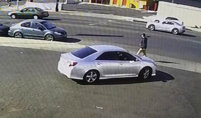 The two wanted in connection with the Tuesday, Dec. 19, 2017 shooting of a teen boy at Woodman Avenue and Osborne Street in Arleta were driving in this vehicle, according to the Los Angeles Police Department. (Surveillance image courtesy of LAPD)