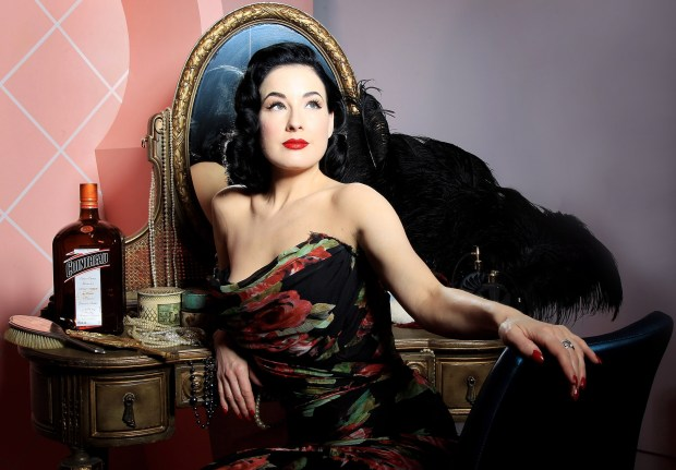 Dita Von Teese will host a 45-minute New Year's Eve Gala burlesque show at the Ace Hotel in Los Angeles. (Photo by Chris Jackson/Getty Images for Cointreau)