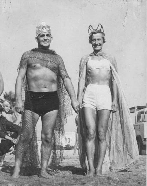 1959 King Marion Chuka and Queen Trudie LoganPhoto Courtesy Cabrillo Beach Polar Bear Club
