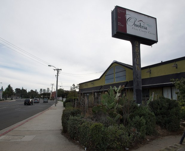 Onotria is located at 2831 Bristol St. in Costa Mesa. Chef Massimo Navarretta was raised farming and making wine in the region of Campania, Italy. He is closing the restaurant after 12 years in business. – CINDY YAMANAKA, ORANGE COUNTY REGISTER -