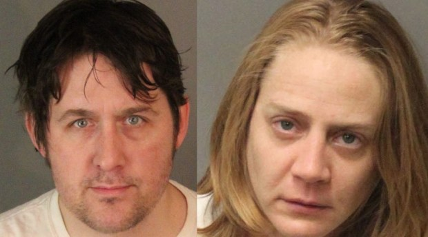 Benjamin Paul Baldasarre, left, and Ashley Lauren Carroll (Courtesy of Riverside police)