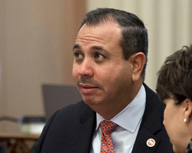 In a Aug. 26, 2016, file photo, state Sen. Tony Mendoza, D-Artesia, listens at the California capitol in Sacramento. (AP Photo/Rich Pedroncelli, File)