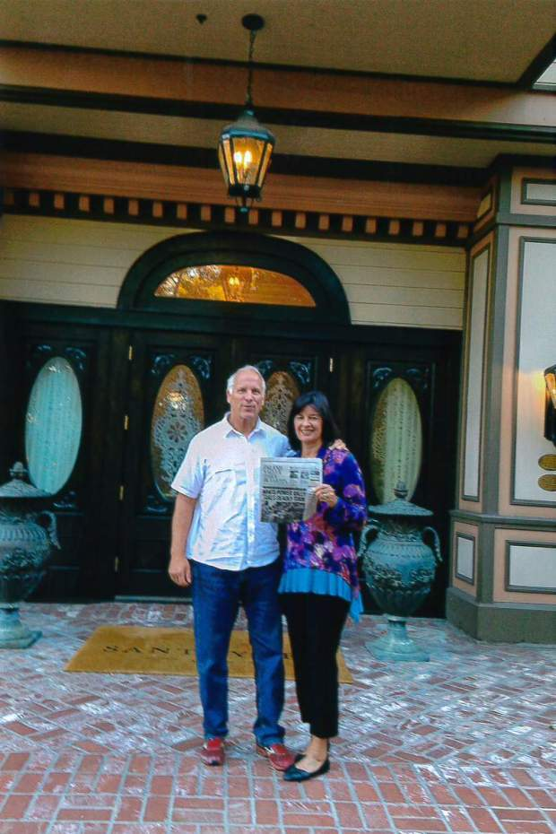 Claremont residents John and Toni Goldhammer celebrated their 40th wedding anniversary at the Santa Ynez Inn, enjoying the sights of the area.(Photo courtesy of Toni Goldhammer)