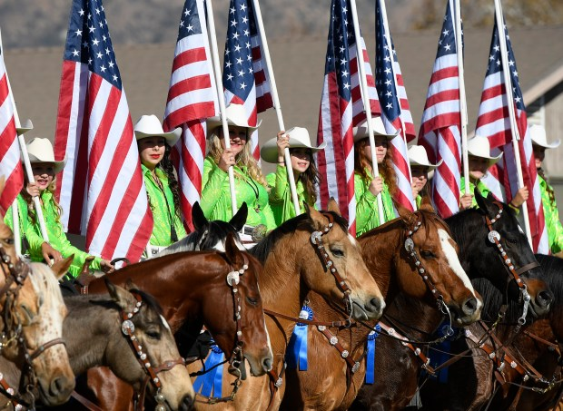 The Norco Cowgirls get ready for Equestfest, held at the Los Angeles Equestrian Center. The event showcased many of the equestrian units that will participate in the Rose Parade on New Year's Day. Burbank, CA 12/29/2017 (Photo by John McCoy, Los Angeles Daily News/SCNG)