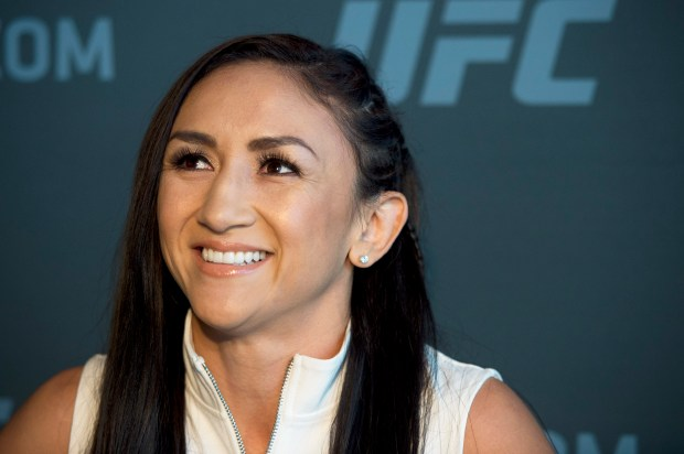 No. 9 UFC women's strawweight Carla Esparza during UFC 219 Ultimate Media Day at the T-Mobile Arena in Las Vegas, Nev., Thursday, Dec. 28, 2017. (Hans Gutknecht, Los Angeles Daily News/SCNG)
