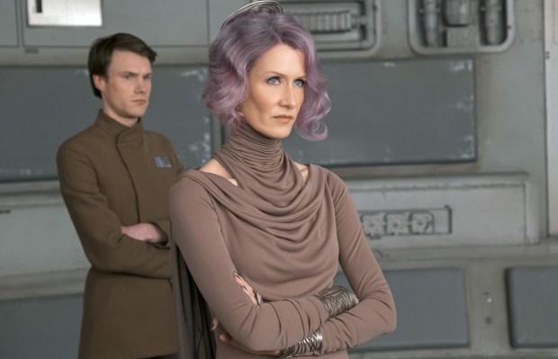 "Laura Dern is Admiral Amilyn Holdo, a Resistance commander, in ""Star Wars: The Last Jedi."""
