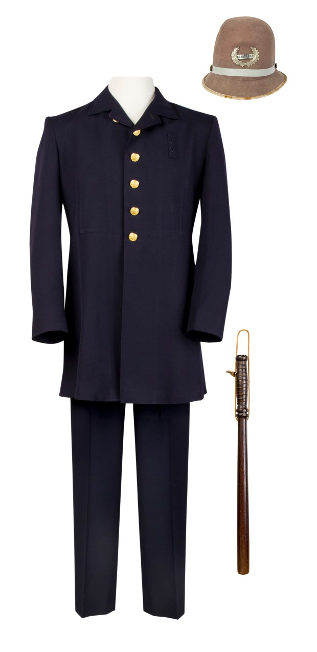 Original Keystone Cops costume sold for $6,900 at a Dec. 16, 2017 auction. Photo courtesy of Van Eaton Galleries, Sherman Oaks, CA.