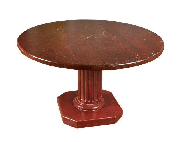 This table was designed for the original Club 33 under the supervision of Lillian Disney, and later removed during a renovation. It sold for $1,200. Photos and description courtesy of Van Eaton Galleries, Sherman Oaks, CA