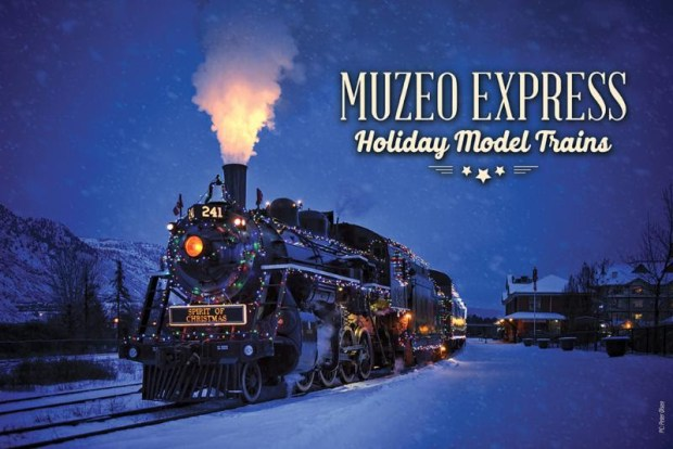 Anaheim's Muzeo features a large holiday model train exhibit. (Photo courtesy Muzeo)
