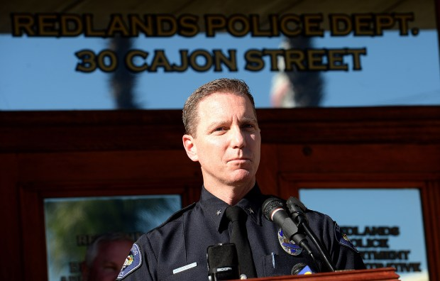 Chris Catren, a commander with the Redlands police department, was appointed Interim Police Chief for the City of Redlands Wednesday Dec 20, 2017, following the announcement that Chief Mark Garica will retire. (Staff photo by Rick Sforza, Redlands Daily Facts/SCNG)