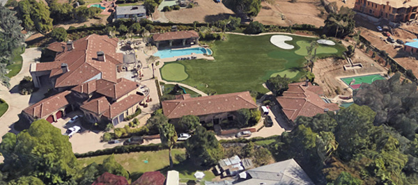 An aerial view of the estate (Google Earth)