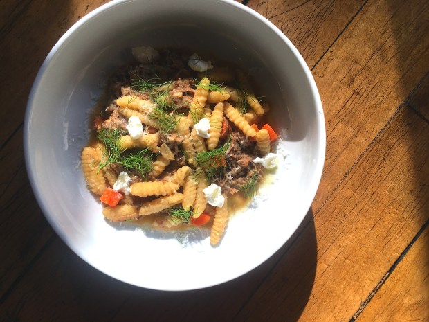 Bruce Kalman's winning dish of cavatelli with wild boar sugo, ricotta, chili and fennel fronds will be on the menu at Union in Pasadena all weekend, beginning Friday, Jan. 5. (Courtesy of KP Hospitality Group, Inc.)