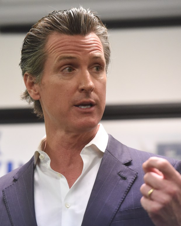 California Lieutenant Governor Gavin Newsom, speaks at a visit to a labor union office in Riverside in this January file photo (John Valenzuela/Press-Enterprise/SCNG)