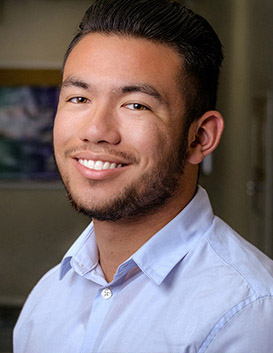 Cal State Fullerton student researcher Erick Aguinaldo was honored by the Society for Advancement of Chicanos/Hispanics and Native Americans. (Photo courtesy of Cal State Fullerton)