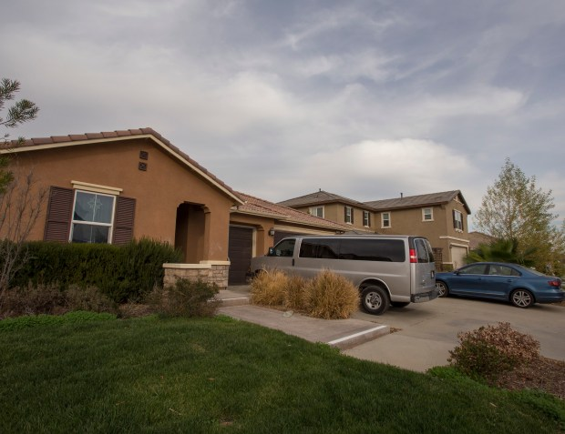 The house at 160 Muir Woods Road in Perris is the scene where, 12 people were found chained and padlocked to their beds Sunday, Jan. 14.File photo by Andrew Foulk, contributing photographer