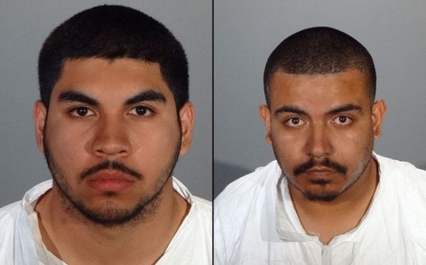 Jesus Seto, left, and Jose Moreno, both of Los Angeles, were arrested on Jan. 13, 2018, in connection with a residential burglary in Glendale, authorities said. (Booking photos courtesy of the Glendale Police Department)