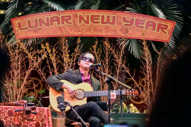 Vietnamese musician Dat Nguyen performs on the first day of Disney's Lunar New Year celebration at California Adventure in Anaheim on Friday, Jan 26, 2018. (Photo by Jeff Gritchen, Orange County Register/SCNG)