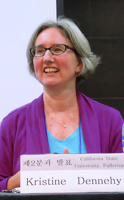 "Kristine Dennehy, chair of the history department at Cal State Fullerton, spoke Jan. 23 at the Fullerton Public Library on the history of ""A Divided Korea."" (Photo courtesy of Cal State Fullerton)"