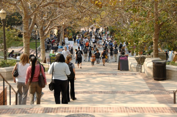Across Southern California and nationwide, unprecedented numbers of college students are seeking counseling for mental and emotional difficulties Above, students at UCLA. (File photo by John McCoy, Los Angeles Daily News/SCNG)