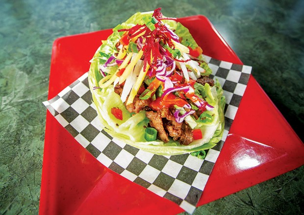 Spicy Pork Korean Taco SSAM at Kimchichanga in Riverside, Thursday, June 1, 2017. (Eric Reed/Riverside Magazine/)