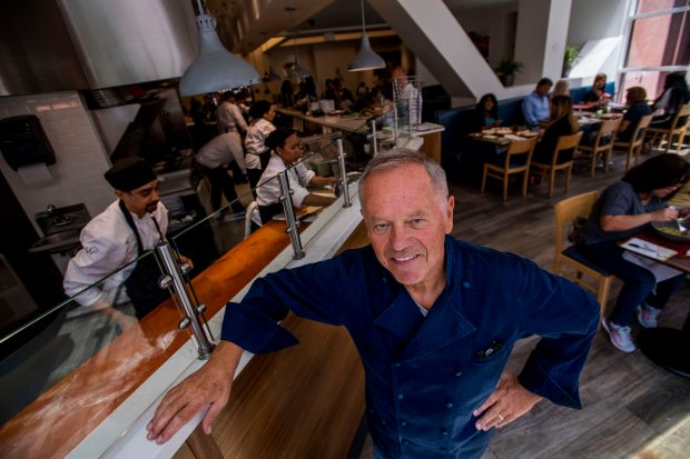 Chef Wolfgang Puck at his newly remodeled Wolfgang Puck Kitchen at South Coast Plaza in Costa Mesa on Saturday, August 12, 2017. (Photo by Paul Rodriguez, Orange County Register/SCNG)