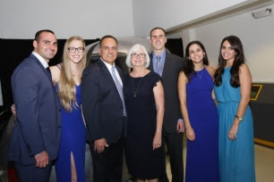 Alex Morales is joined by family and friends at the Children's Bureau gala. Pictured are Jake Morales, Sara Gilmore, Alex Morales, Martha Morales, Aaron Morales, Molly Morales and Jennie Walz. (Courtesy photo by Danielle Klebanow)