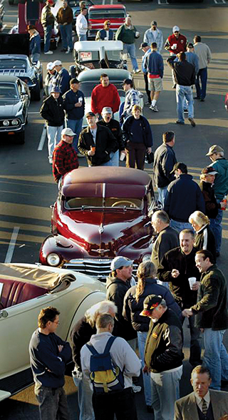"Did you know Orange County hosts the largest weekly hot rod gathering in the world? Local hot rodders christened themselves the Donut Derelicts. They meet in Huntington Beach. Four friends drove their cars to a neighborhood donut shop at the corner of Adams and Magnolia Ave. in Huntington Beach in 1986. Thus began what was to become the largest and most well-known casual hot rod gathering in the world. Every Saturday you can expect to see every kind of road machine there is from ""backyard rat rods"" to the most gorgeous roadsters."