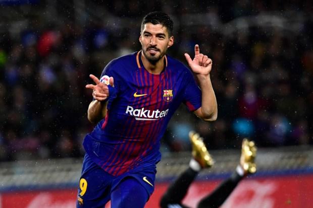 Luis Suárez se puso a 100 goles en la Liga, convirtiéndose en el jugador que más rápido ha llegado a esa cifra de goles en la historia del Barça. AP