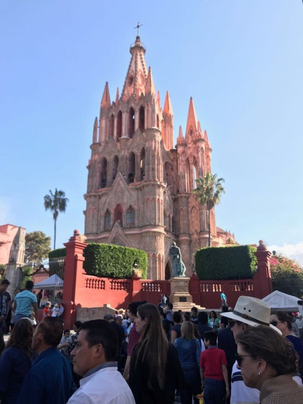 The Love family attended Mass at Parroquia de San Miguel Arcangel in San Miguel de Allende, Mexico, during a recent vacation. Photo courtesy of Carl Love, contributing photographer