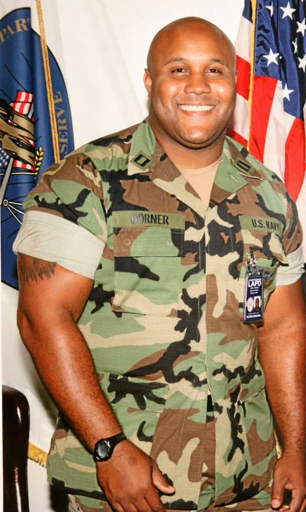 FILE - In this undated photo released by the Los Angeles Police Department shows suspect Christopher Dorner, a former Los Angeles officer. Dorner, who was fired from the LAPD in 2008 for making false statements, is linked to a weekend killing in which one of the victims was the daughter of a former police captain who had represented him during the disciplinary hearing. An internal review by the LAPD concluded that rogue ex-cop Christopher Dorner was justifiably fired, a lawyer who reviewed the findings told The Associated Press on Tuesday. Civil rights attorney Connie Rice said the lengthy examination found no basis for allegations of racism and bias that Dorner made in a manifesto vowing revenge on his former colleagues and their families. (AP Photo/Los Angeles Police Department, File)