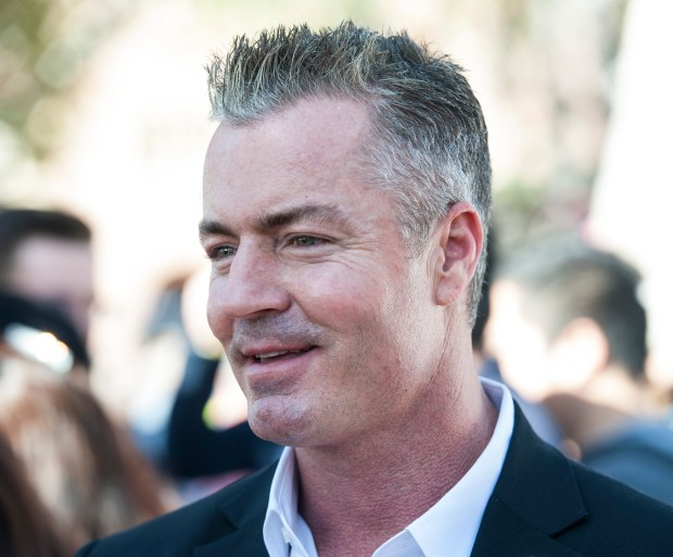 Gubernatorial candidate Travis Allen talks with guests after the 26th Annual Empowerment Congress Gubernatorial Town Hall at Bovard Auditorium, University of Southern California in Los Angeles on Saturday, Jan. 13, 2018. (Photo by Ed Crisostomo, Los Angeles Daily News/SCNG)