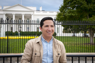 Luis Tadeo, a DACA recipient, is in Washington, D.C., with hundreds of other Dreamers to push for Dream Act passage by Friday. (Courtesy, LA School Report)