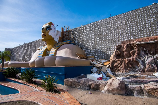 Demolition phase of the new construction at Splash Kingdom in Redlands, on Sunday, January 21, 2018 . (Frank Perez/Correspondent)
