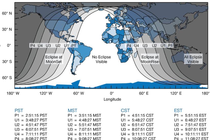 total lunar eclispse chart