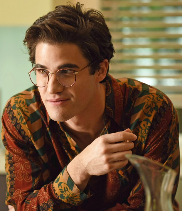 "Darren Criss as Andrew Cunanan in ""The Assassination of Gianni Versace: American Crime Story,"" premiering Wednesday on FX."