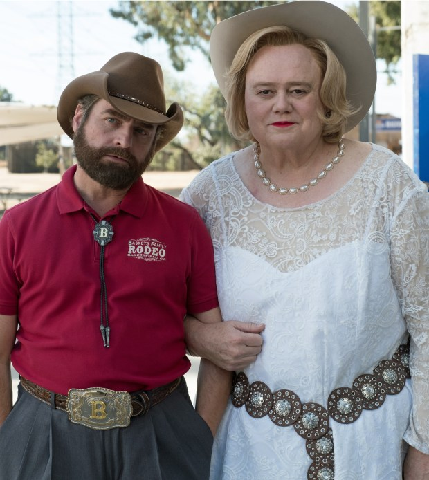 "Zach Galifianakis and Louie Anderson in ""Baskets,"" beginning its third season on Tuesday."