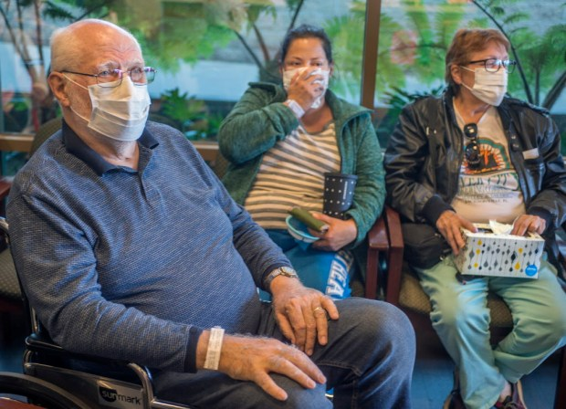 People with the flu in the waiting room at Pasadena Urgent Care Health Care Partners Friday, January 5 2018. A mighty wave of flu has gripped the nation and Southern California. LA County is seeing widespread influenza which means emergency rooms and urgent cares are packed. (Photo by Walt Mancini/Pasadena Star-News/SCNG)