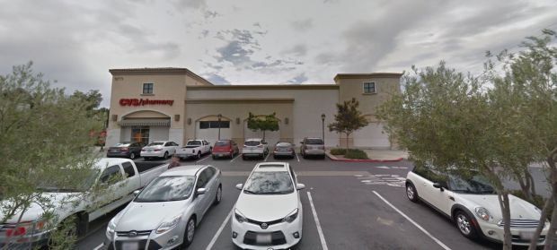 The retrial is wrapping up for Brian Eldon Saylor, 32, of Temecula, who is accused of killing a 54-year-old woman at this CVS, 31171 Rancho California Road, by hitting her in the back of the head with a bottle of Jim Beam whiskey. (Google Street View)