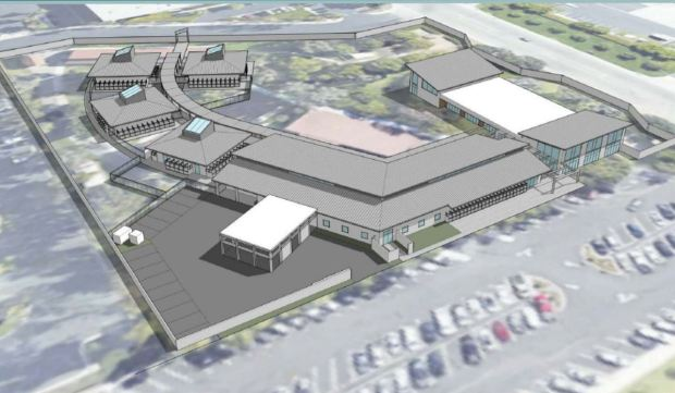 A conceptional image of the city of Irvine's proposed new animal care center. (City of Irvine)