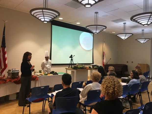 Seniors watch a cooking demonstration in the Boomers and Beyond program by the Palos Verdes Library District. (Photo courtesy of PVLD)