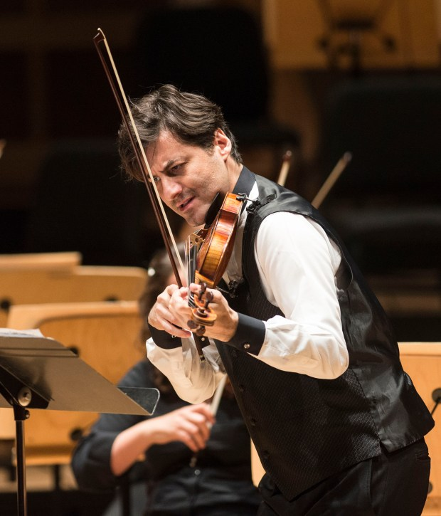 Violinist Philippe Quint will perform Tchaikovsky's violin concerto with the Pacific Symphony on Nov. 15-17. (File photo by Matt Masin, Orange County Register/SCNG)