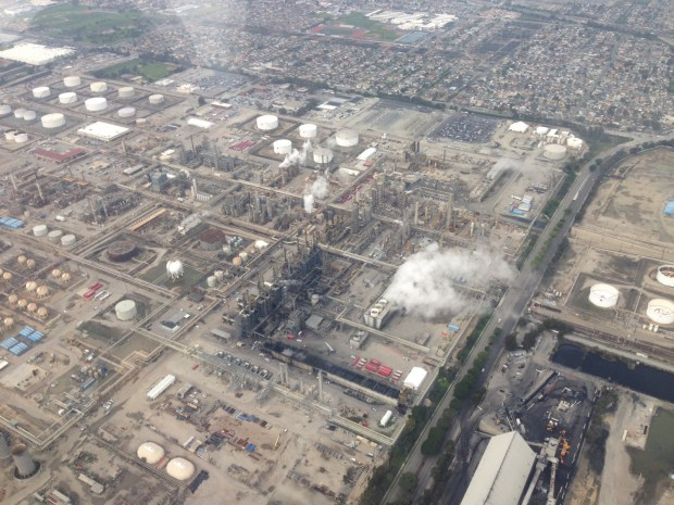 Local activists will mark the two-year anniversary of the ExxonMobil refinery blast in 2015 that spawned two grassroots groups demanding operational changes and a ban on highly-toxic hydrofluoric acid. Members of both will gather Monday morning at Columbia Park to protest and March to the refinery. The event occurs against the backdrop of the AQMD seeking improvements to the power infrastructure at the Torrance refinery; the company said Thursday it lost $75 million in the third quarter, largely due to two power outages that curtailed production at the plant.