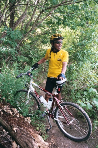 The late Jose Ramos and his bicycle which he rode to Washington, DC. to advocate for the establishment of a Welcome Home Vietnam Veterans Day. Now, Whittier officidals are planning a memorial to honor him and include the bike. Photo courtesy Alfred Lugo