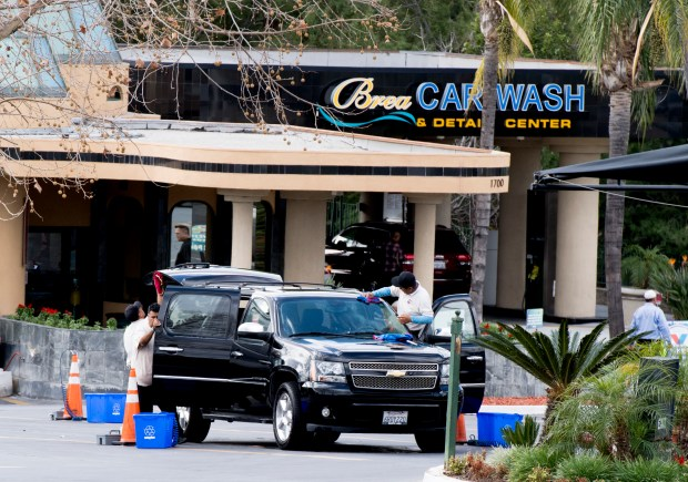 Brea Car Wash and Detail Center at 1700 East Lambert Road in Brea is one of a dozen car washes owned by Vahid David Delrahim where workers were cheated out of minimum wages, according to the U.S. Department of Labor (Photo by Paul Bersebach, Orange County Register/SCNG)