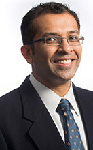 """Cal State Fullerton assistant professor of computer science Anand Panangadan is co-leading the development of the """"internet of things"""" elective track. (Photo courtesy of Cal State Fullerton)"""