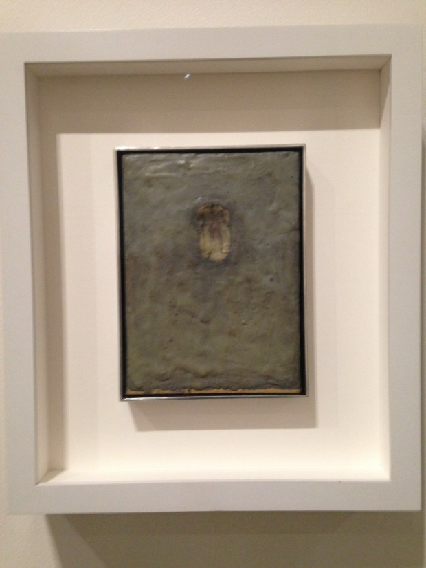 Painting Biten by a Man, 1961 features Jasper Johns' bite mark. (Photo by Sandra Barrera)