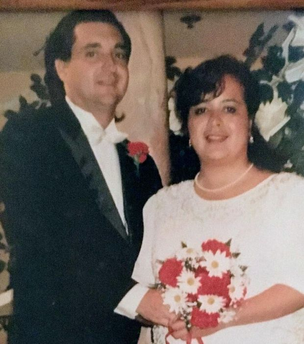 Christine Daffern and her husband, Wayne. She was killed Jan. 26 when she was struck by a car in Torrance.Family photo